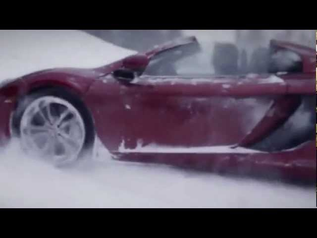 2013 New <em>McLaren</em> 12C Spider Road Race Rhys Millen V Chanelle Sladics Commercial Carjam TV HD