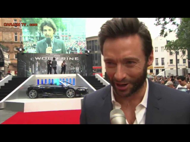 Hugh Jackman The Wolverine <em>Audi</em> R8 Premiere Sexy Commercial Trailer 2013 Carjam TV HD