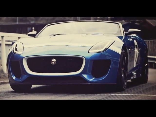 2014 <em>Jaguar</em> F Type V8S T7 HD Full Speed Loud Exhaust Project 7 Concept Sexy Commercial Carjam TV HD
