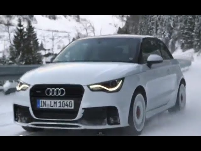 2013 <em>Audi</em> A1 quattro Review In Detail Commercial Snow Driving Carjam TV Car TV Show