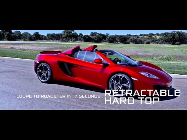 2013 McLaren 12C Spider In Detail Commercial 2013 Carjam HD Car TV Show