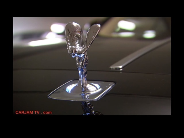 Rolls Royce Spirit of Ecstasy Lighting Up + Retracting 2014 Hood Ornament Carjam TV HD