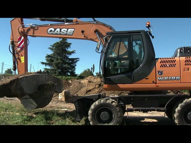 New CASE WX188 Wheeled Excavator In Detail Tractors 2013 Commercial Carjam TV HD