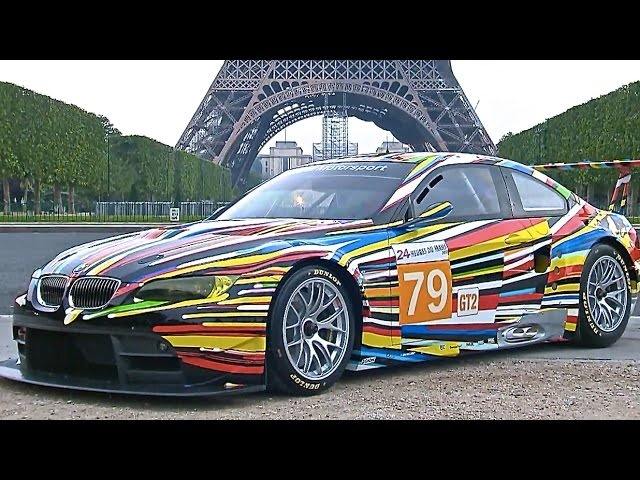 ☆ Jeff Koons <em>BMW</em> M3 GT2 Le Mans <em>BMW</em> Art Car Racing / Driving CARJAM TV HD