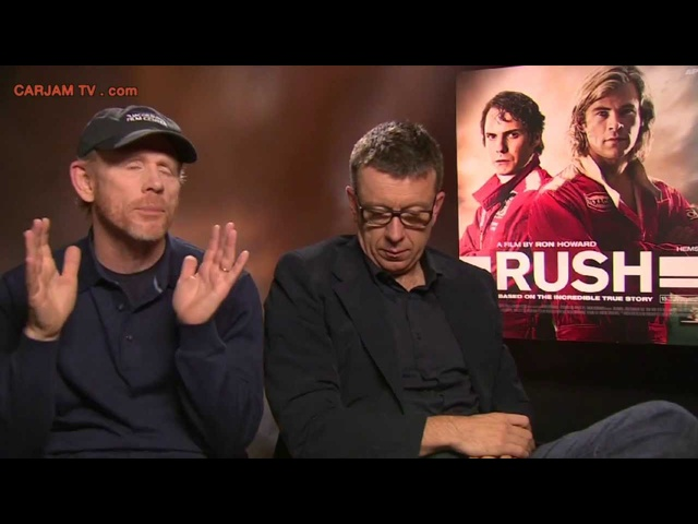 Ron Howard Interview Peter Morgan RUSH Movie 2013 Clips Niki Lauda James Hunt Carjam TV HD