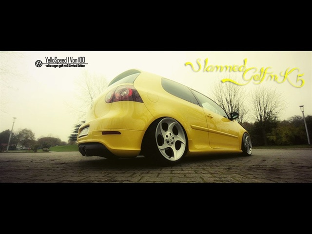 Slammed Golf MK5 - Yellow speed 1 von 100