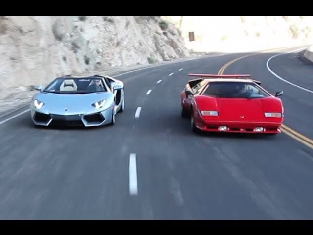 <em>Lamborghini</em> Countach vs. Aventador Roadster
