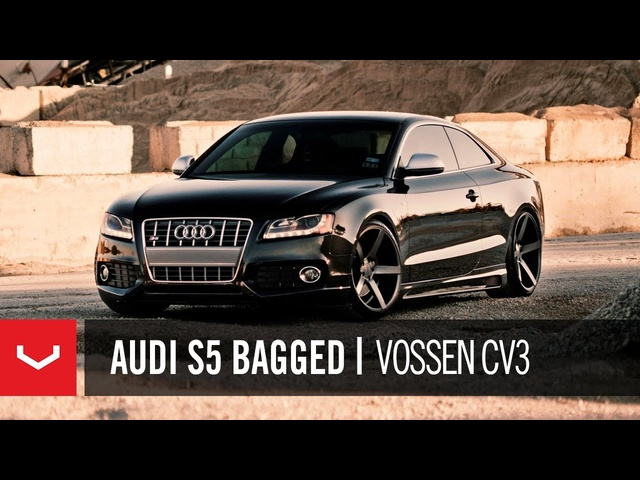"<em>Audi</em> S5 Bagged on 20"" Vossen VVS-CV3 Concave Wheels / Rims"