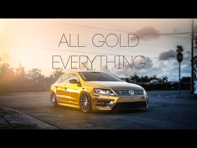 Bagged VW CC | All Gold Everything | Concavo Wheels