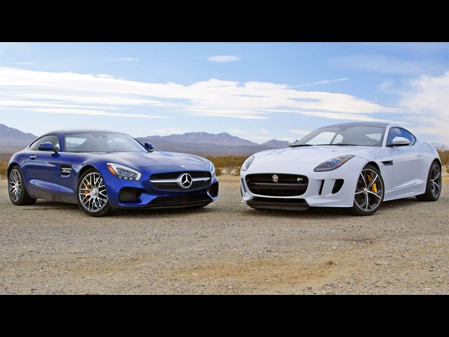 2016 <em>Mercedes</em>-AMG GT S vs. 2016 Jaguar F-Type Coupe R - Head 2 Head Ep. 73