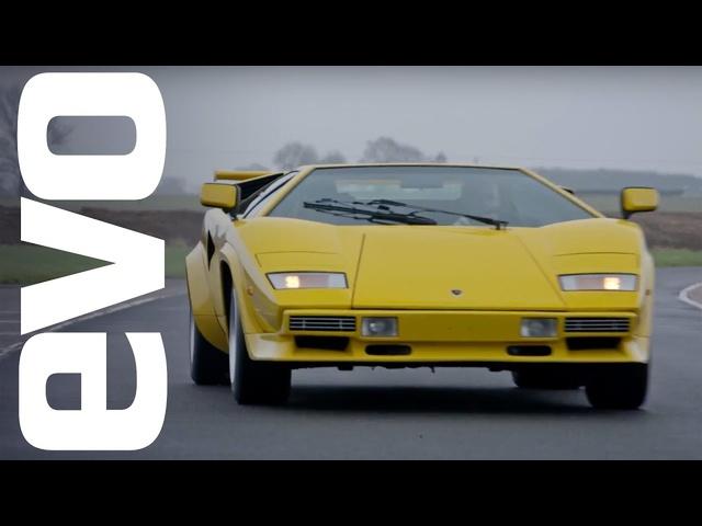 Lamborghini Countach LP 400 S driven | evo ICONS