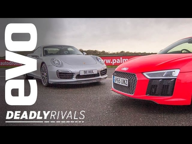 New Audi R8 V10 Plus vs <em>Porsche</em> 911 Turbo S | evo DEADLY RIVALS
