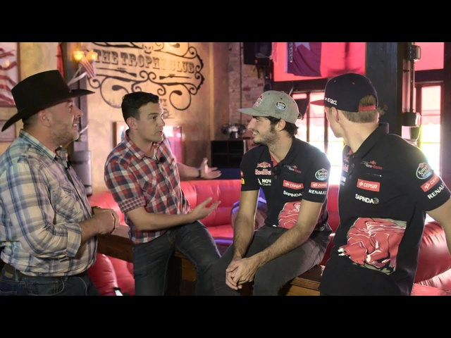 F1 Drivers Max Verstappen and Carlos Sainz Jr go Bull Riding in Texas -Off the Grid