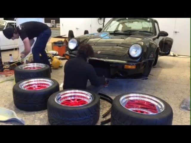 #RWBatTheDrive: LIVE Akira Nakai Finishes The RWB Brooklyn Porsche 911