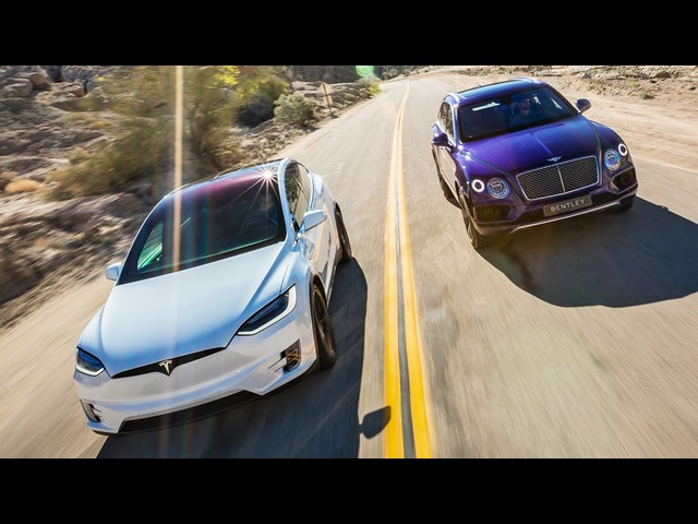 2017 Bentley Bentayga vs. 2016 <em>Tesla</em> Model X P90D Ludicrous - Head 2 Head Ep. 76