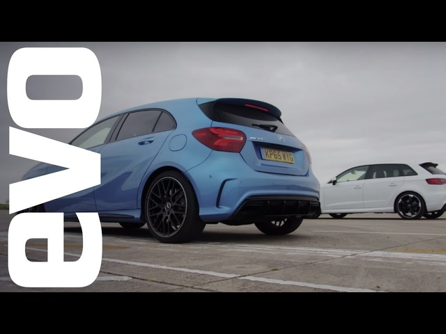 <em>Mercedes</em> A45 AMG vs Audi RS3 - Which is fastest? | evo DRAG BATTLE