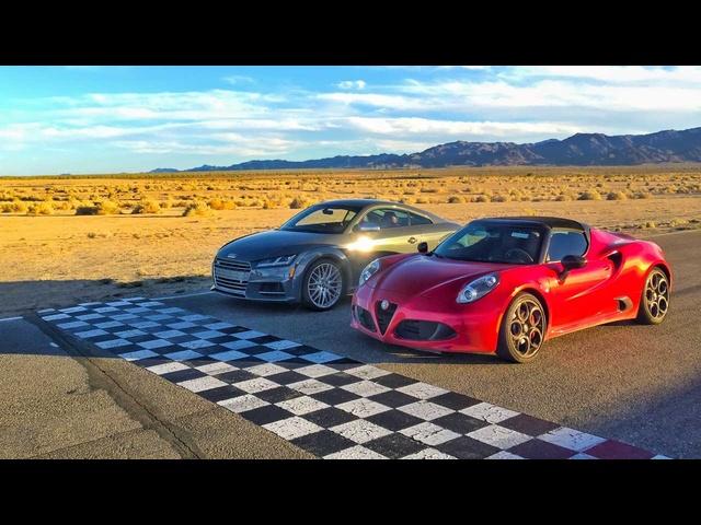 2016 Alfa Romeo 4C Spider vs. 2017 <em>Audi</em> TTS -Head 2 Head Ep. 77