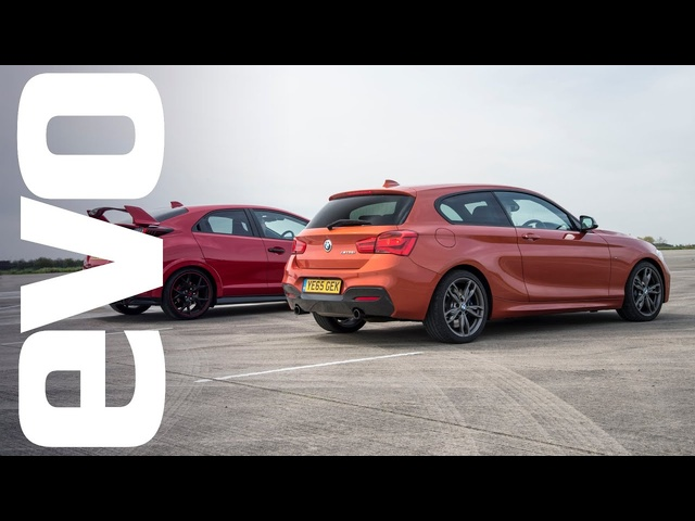 <em>Honda</em> Civic Type R vs BMW M135i - Which is fastest? | evo DRAG BATTLE