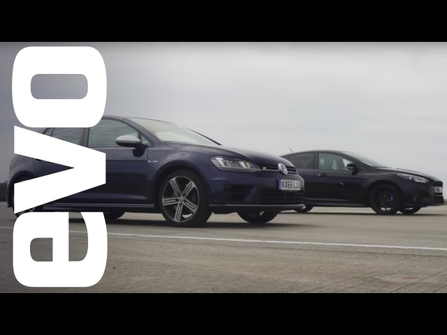 Ford Focus RS vs <em>Volkswagen</em> Golf R - which is fastest? | evo DRAG BATTLE