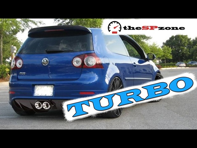 VW GOLF R32 Turbo Exhaust Sound & Acceleration Compilation