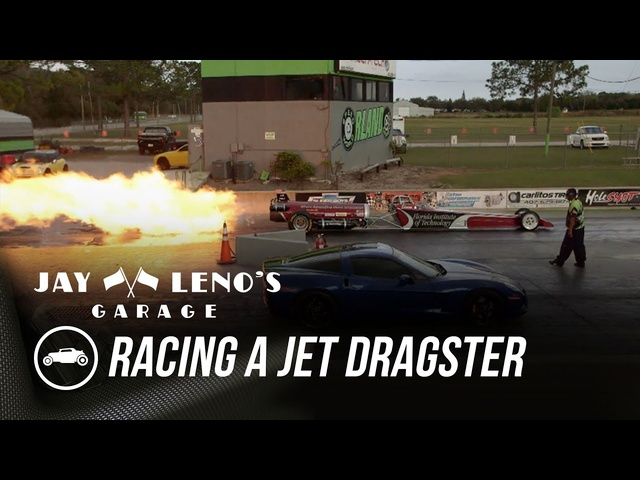 Jay Leno Races Jet Dragster In C6 Corvette - Jay Leno's Garage