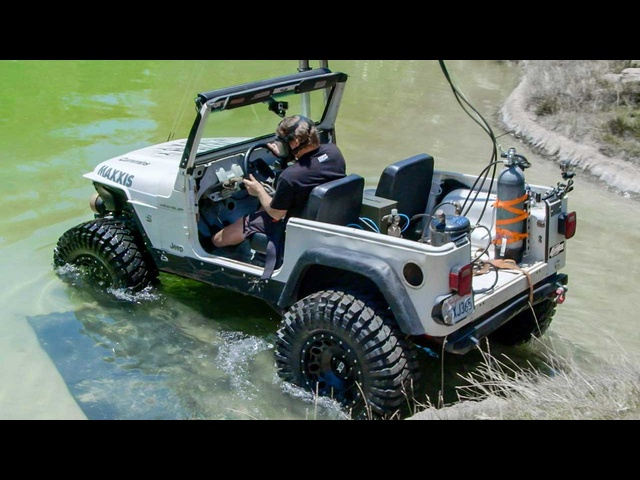 Diesel <em>Jeep</em> Drives 12 Feet Underwater! - Dirt Every Day Ep. 54