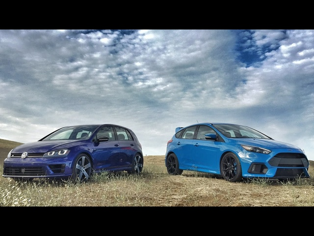 2017 Ford Focus RS vs. 2017 Volkswagen Golf R - Head 2 Head Ep. 80