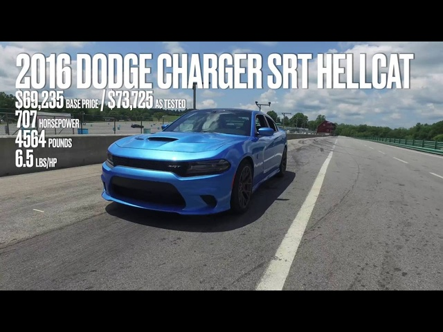 <em>Dodge</em> Charger SRT Hellcat at Lightning Lap 2016