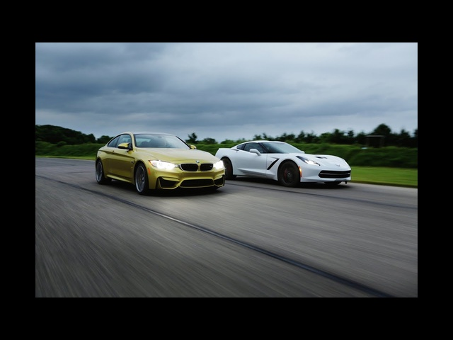2015 <em>BMW</em> M4 vs. 2014 Chevrolet Corvette Stingray | AROUND THE TRACK