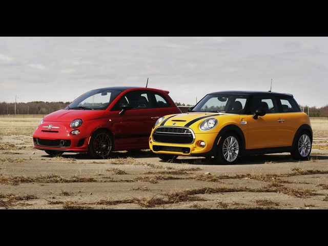 2014 Fiat 500 Abarth vs. 2014 Mini Cooper S | STANDING MILE