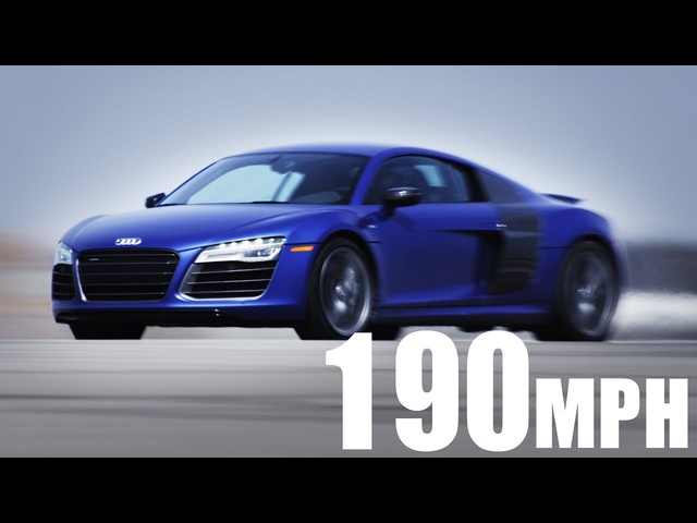 0 to 190 mph in a 2014 Audi R8 V10 Plus | AROUND THE BLOCK