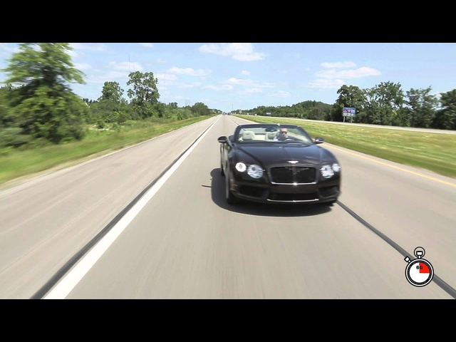 60 Seconds with the <em>Bentley</em> Continental GTC V8