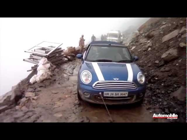 Tackling Khardung La in a Mini Cooper Convertible