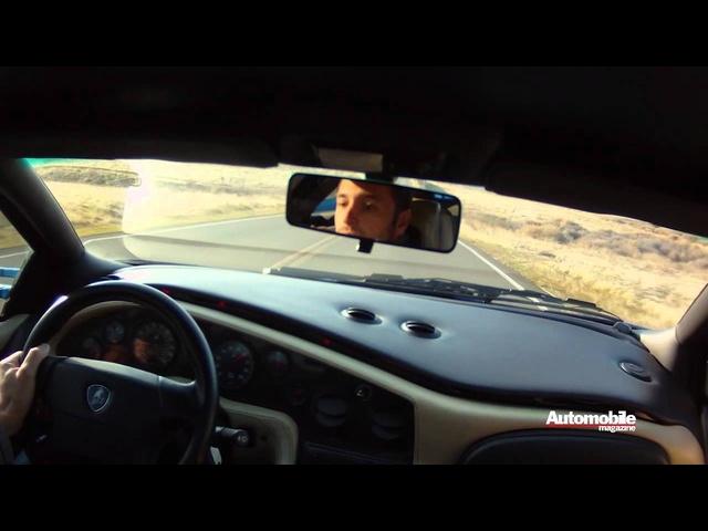 <em>Lamborghini</em> Miura, Countach, Diablo VT, Murcielago, and Aventador Accelerating
