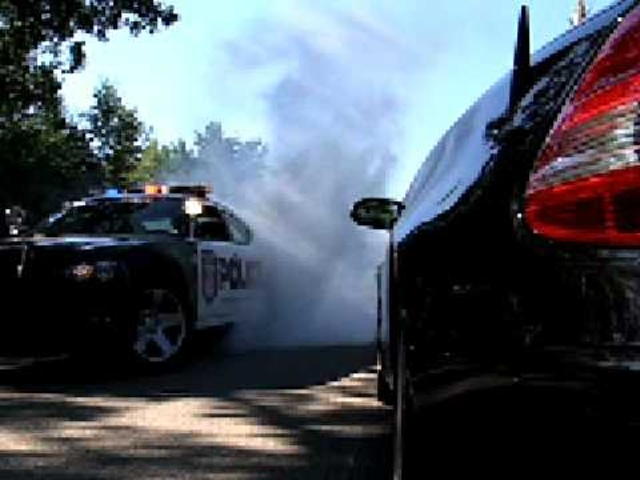 <em>Dodge</em> Charger Police Car Burnouts!!