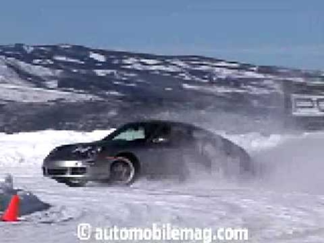 Porsche Camp4 Colorado Winter Drifting