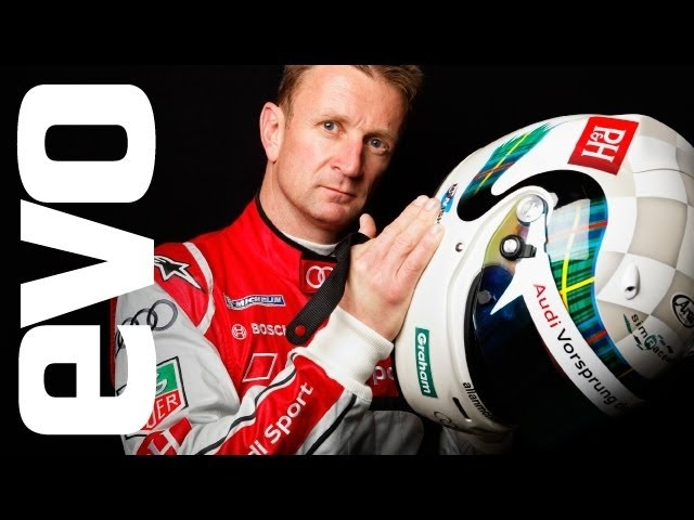 Allan McNish drives Audi R8 GT Spyder around Silverstone