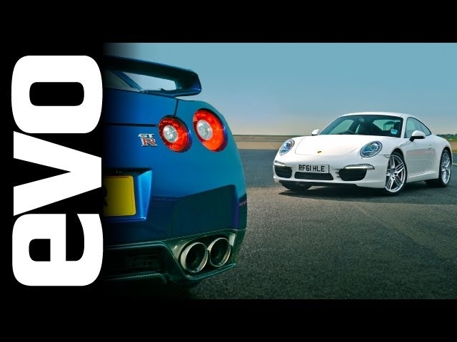 Tiff Needell evo track battle: Nissan GT-R vs Porsche 911 Carrera S