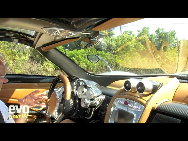 <em>Pagani</em> Huayra on the road- evo magazine video diary