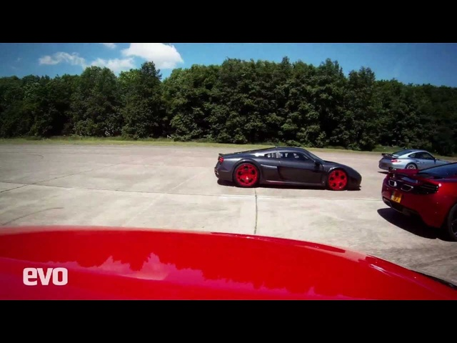 McLaren MP4-12C vs. Ferrari 458 Italia vs. Noble M600 vs. Porsche 911 Turbo S- EVO Magazine