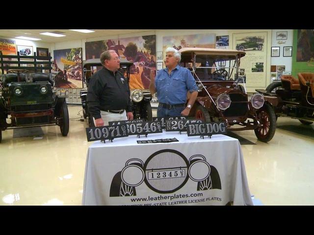 Leather License Plates -Jay Leno's Garage