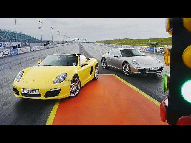 Showdown -2012 Porsche 911 Carrera (991) vs. 2013 Porsche Boxster S -CAR and DRIVER