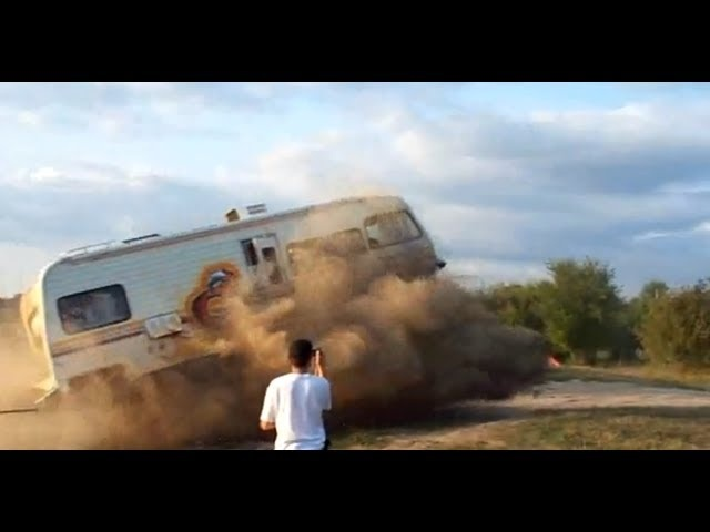 Extreme Redneck RV Jump - CAR and DRIVER