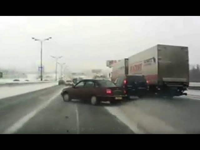 Car Crashes on Icy Road - CAR and DRIVER