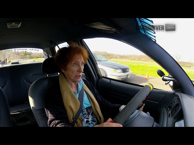 Old Lady Beats Dumb Driver - CAR and DRIVER