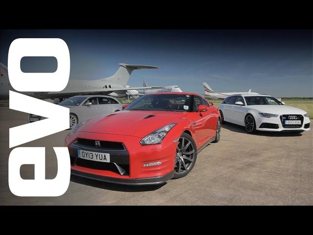 Audi RS6 v RS4 v <em>Nissan</em> GT-R | evo DRAG RACE