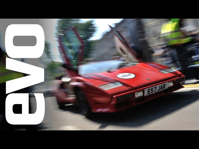 Lamborghini Countach 50th anniversary tour | evo DIARIES