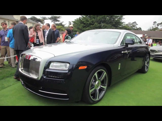 2014 Rolls-Royce Wraith - Up Close @ Pebble Beach - CAR and DRIVER