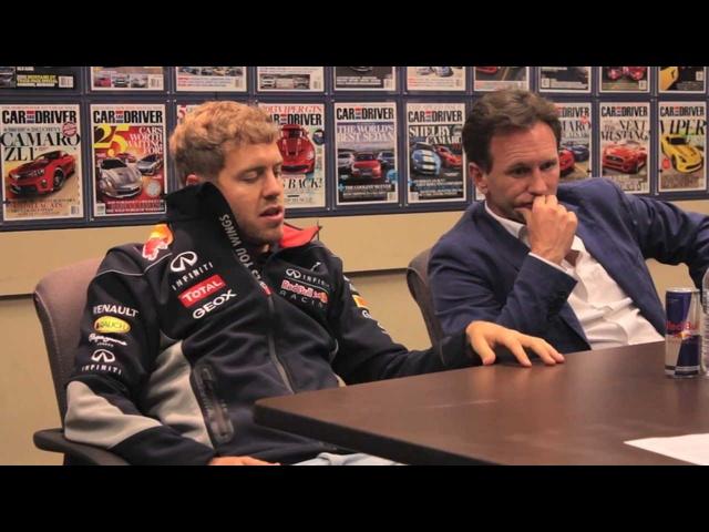 Sebastian Vettel & Christian Horner Interview -CAR and DRIVER
