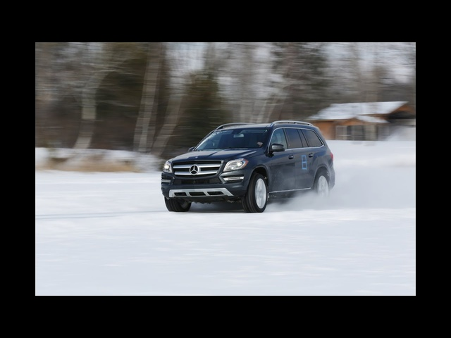 Ice racing in a 2013 <em>Mercedes</em>-Benz GL450 | AROUND THE BLOCK